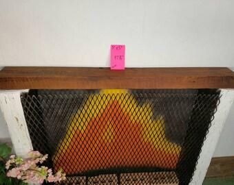 "Reclaimed Barnwood Mantle Vintage Wood Beam 47 3/4"" Long Fireplace Mantle Reclaimed Wood Shelf"