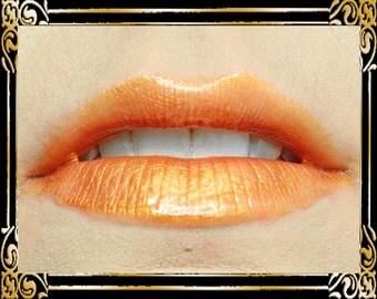 EL DORADO Lip Gloss: 10 mL Tube, Gold Shimmer Lip Gloss, Bronze Glitter, Orange Lip Color, Vanilla Flavor, Ships Out in 4-7 Days