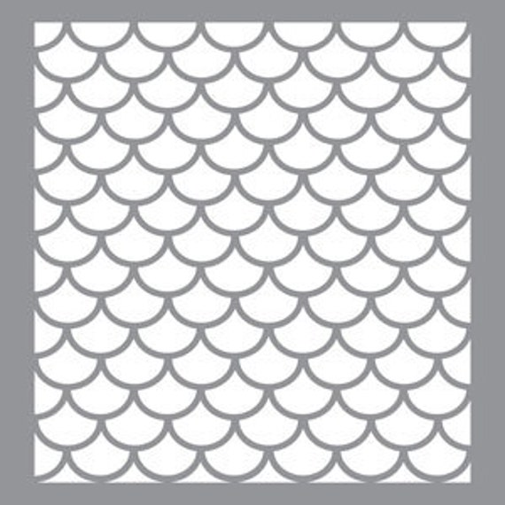 Art supplies art stencil sheets in fish scale patterns design for Fish scale stencil