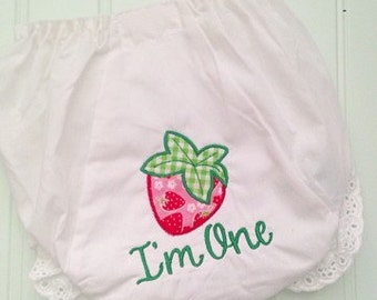 Personalized Sweet Strawberry Diaper Cover