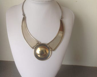 Vintage hand made necklace metall brass Icelandic