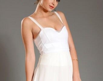 "Bridal dresses sexy wedding dresses ""ADI MIDI"" SALE!!! - a midi dress in an intelligent delicate lingerie look, harmonic and sexy."