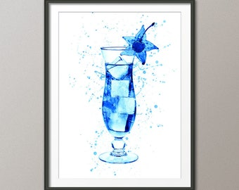 Cocktail Glass, Cocktail Drink, Art Print Poster (2820)