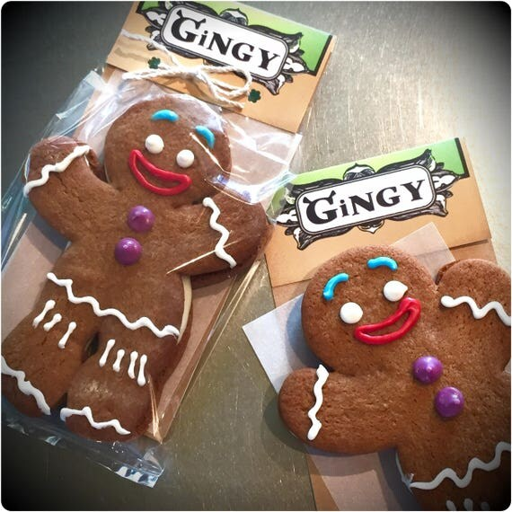 Gingy cookies shrek style gingerbread man with vanilla - Biscuit shrek ...