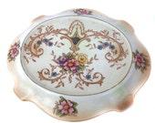1920s Crown Ducal Teapot Stand Blush Ivory Art Nouveau AG Richardson Vintage Housewares Vintage Serving Vintage Kitchen Antique Table