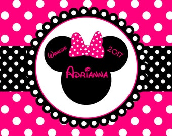 Personalized Beach Towel - Minnie Mouse Worlds Cheer Any Color