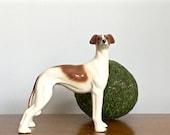Vintage Porcelain Dog Statue Figurine English Coopercraft Greyhound Hunting Dog Preppy Decor