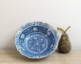 Vintage Blue White Porcelain Bowl