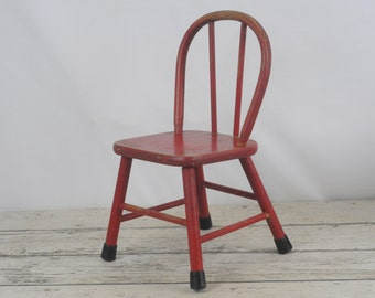 Antique Childs Chair Antique Bentwood Rustic Wooden Childs Chair