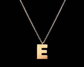 18K Gold / Silver Plated Initial Pendant Necklace Jewelry Stainless Steel Necklace Valentines gift