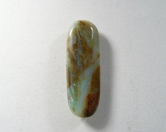 Peruvian Opal Cabochon, 12x35.5x4.5 mm, designer cabochon, gemstone cabochons, flat back cabochons, natural stone cabochons (po21071)