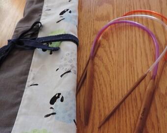 circular knitting needle case - needle organizer