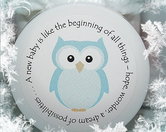 Baby Shower Favors - Baby Shower, Owl, Boy, Unique, Personalized Whipped Body Butter - Baby Boy Owl
