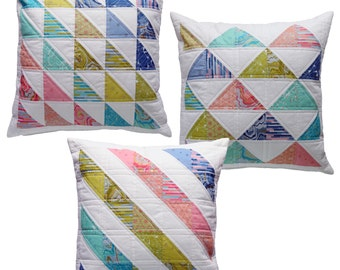 Triple Triangles Cushion Pattern Mini PDF by Emma Jean Jansen - Immediate Download