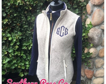 Monogrammed Ladies Heathered Vest