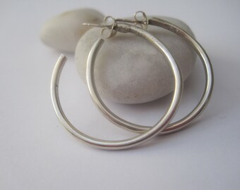 Silver Hoop Earrings, Silver earrings