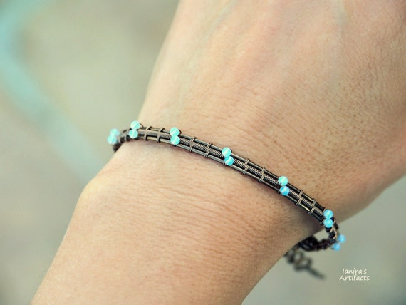 Gesmtone wire wrapped bangle