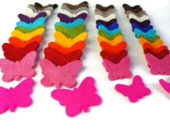 Felt Butterfly, Embllishment, Felt Shapes, Wool Butterfly, Felt Die Cut, Felt Butterfly Shapes, Applique, Felt Supply, Die Cut Felt Shapes