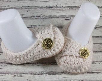 Baby Girl Booties, Crochet Baby Booties, Newborn Baby Girl Shoes