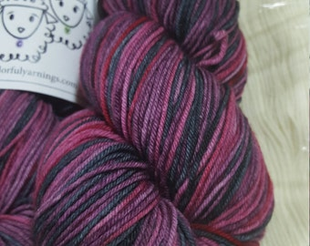 Berry Pie Self Striping Saturated sock