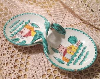 Vintage Italian Pottery Tidbit Tray