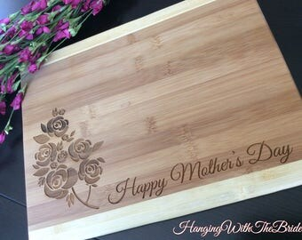 Mother's day gift,  Personalized Cutting Board, Valentine's day gift, Engraved Cutting Board, Wedding Gift, Anniversary Gift, Engagement