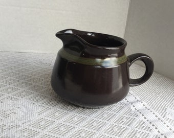 Vintage Franciscan Earthenware Madiera Creamer or Gravy Boat in Brown and Green