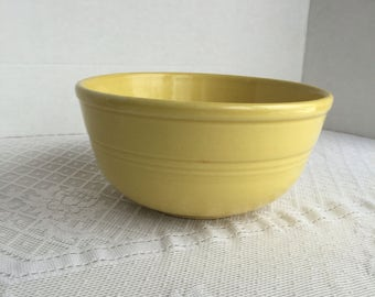 Vintage Yellow Mixing Bowl / Pottery Ringware Bowl by Sevilla