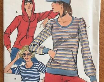 1980s Butterick Sweatshirt Hoodie Pattern 5264
