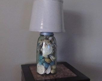 Sea shells in a Jar lamp