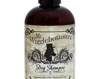 Mr. Wigglebottom's Dog Shampoo- Made with Organic Aloe and Essential Oils- Vegan base- 8oz.