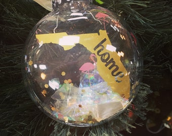 Florida home ornament, Florida Christmas ornament, Florida ornament, Christmas ornament, flamingo ornament
