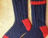 Hand Knit Mens or Womens 100 % Wool Heavy Boot, Hiking, Skiing, Snowboarding Socks (B-055)