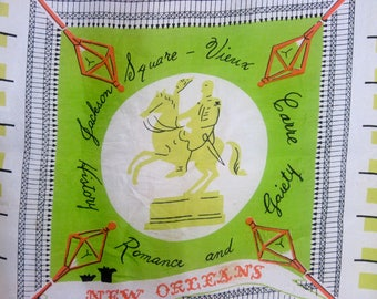 1960's New Orleans, Louisiana novelty scarf