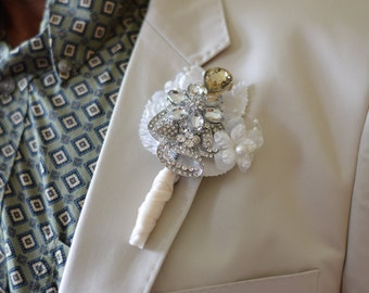 Custom Order Brooch Boutonniere with flower