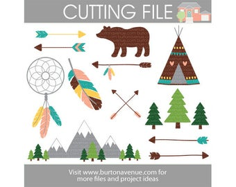 Adventure Awaits assorted cut files for Cricut, Silhouette, Instant Download (eps, svg, gsd, dxf, ai, jpg, and png)