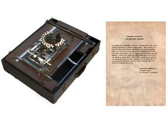 Super Rare Keaton Music Typewriter Instruction Manual Instant Download