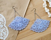 Divine Lace Earrings in Airy Blue