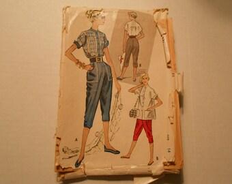 McCalls  8820 size 14 shirt pant capri vintage