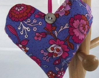 Lavender-filled Hanging Heart Decoration