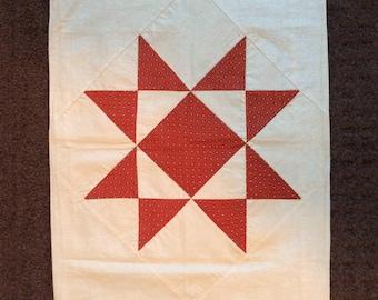 Single antique patchwork  pillowcase, ca. 1880