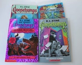 Goosebumps R. L. Stine Books Werewolf Haunted School Hairiest Adventure Halloween