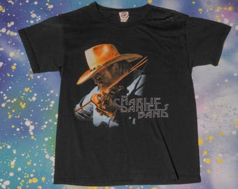 The CHARLIE DANIELS BAND Fiddle Devil Country Rock T-Shirt Size S