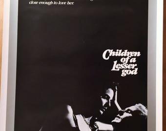 Mini Movie Poster, Children of a Lesser God with William Hurt.