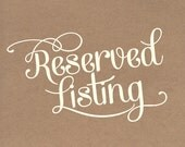 Reserved Listing For Lindsay