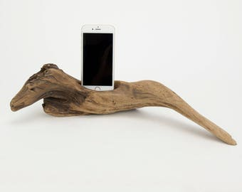 Docking Station for iPhone, iPhone dock, iPhone Charger, iPhone Charging Station, iPhone driftwood dock, wood iPhone dock/ Driftwood-No. 992