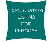 2 pc CUSTOM for DEBORAH. Jonathan Adler modern printed linen. Zippered pillow cover.