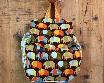 Kids Backpack // Elephants Back Pack // Preschool Back Pack // Small Back Pack // Toddler Back Pack/Multi Color Back Pack