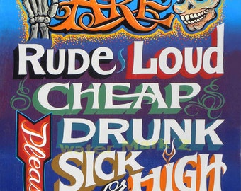 Hand painted original Vintage Signs Prints & by ...