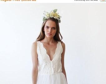 30% OFF - Blush Birthday Bridal flowers hair accessory, Flowers headpiece, Wedding hair accessory 4010